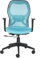 View Bluebell Kruz I Mid Back Fabric Office Arm Chair(Blue) Price Online(Bluebell)