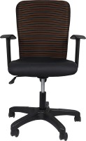 View Hetal Enterprises Fabric Office Arm Chair(Black) Furniture (Hetal Enterprises)