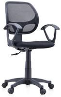 Urban Ladder Eisner Fabric Study Arm Chair(Black)