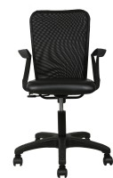 View The Furniture Store Fabric Office Arm Chair(Black) Furniture