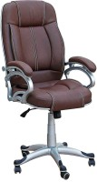 View TimberTaste LILLY Leatherette Office Arm Chair(Brown) Furniture (TimberTaste)