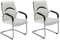 View Mavi Leatherette Office Arm Chair(White, Set of 2) Price Online(Mavi)