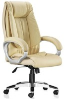 View Adiko Leatherette Office Arm Chair(Yellow) Furniture (Adiko)