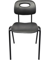 Darla Interiors Vinyl Office Visitor Chair(Black)