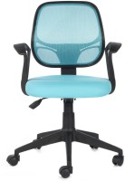 View Bluebell Vertx Low Back Fabric Office Arm Chair(Blue) Price Online(Bluebell)