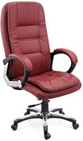 View Woodstock India Leatherette Office Arm Chair(Maroon, Maroon) Price Online(Woodstock India)
