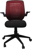 View Woodstock India Fabric Office Arm Chair(Brown, Black) Price Online(Woodstock India)