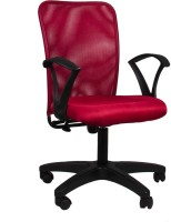 Hetal Enterprises Fabric Office Arm Chair(Maroon)