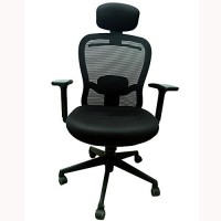 View Mavi Half-leather Office Arm Chair(Black) Price Online(Mavi)