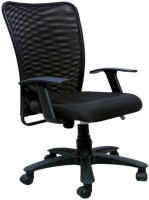 View Woodstock India Fabric Office Arm Chair(Black, Black) Price Online(Woodstock India)