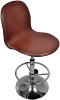 Darla Interiors Leatherette Office Visitor Chair(Brown)