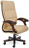 View Woodstock India Leatherette Office Arm Chair(Beige, Brown) Price Online(Woodstock India)