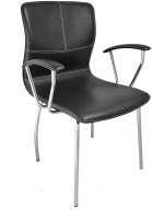 Darla Interiors Leatherette Office Arm Chair(Black)