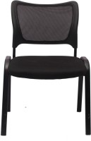 View V J Interio Leatherette Office Arm Chair(Black) Furniture (VJ Interior)