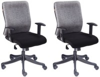 View Mavi Leatherette Office Arm Chair(Black, Grey, Set of 2) Price Online(Mavi)