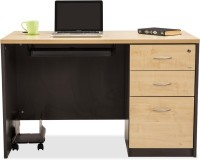 Durian DWS/34722 Engineered Wood Office Table(Free Standing, Finish Color - Maple)