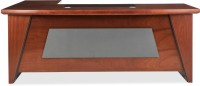 View Durian ORACLE Engineered Wood Office Table(Free Standing, Finish Color - Cherry) Furniture (Durian)