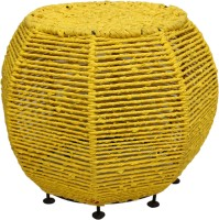 View InLiving Metal Pouf(Finish Color - Yellow) Furniture (InLiving)