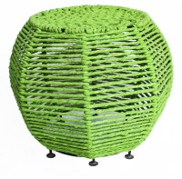 View InLiving Metal Pouf(Finish Color - Green) Furniture (InLiving)