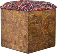 View InLiving Engineered Wood Pouf(Finish Color - Brown) Furniture (InLiving)