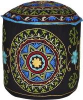 View Lal Haveli Fabric Pouf(Finish Color - Black) Furniture (Lal Haveli)