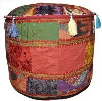 View Lal Haveli Fabric Pouf(Finish Color - MULTI) Furniture (Lal Haveli)