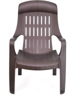 View Nilkamal Sunday Plastic Outdoor Chair(Finish Color - Weather Brown) Furniture (Nilkamal)