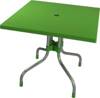 Supreme Olive Plastic Outdoor Table(Finish Color - Green)