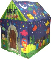 Muren Eye Catching Tent House With LED Light for Kids 3+(Multicolor)