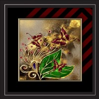 JAY GANESH FRAMES DIGITALLY PRINTED CLASSIC, CREATIVE AND DECORATIVE PHOTO FRAMES/WALL HANGINGS FOR HOME DECOR, COLOURFUL BUTTERFLY ABSTRACT PICTURE PHOTO WITH BLACK FRAME, SIZE: 13.75 INCH x 13.75 INCH Digital Reprint 13.75 inch x 13.75 inch Painting