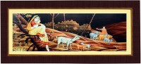 Janki Decorative Wall Picture for Room Digital Reprint 8.071 inch x 17.71 inch Painting