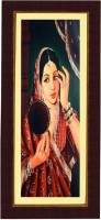 Janki Decorative Wall Picture for Room Digital Reprint Painting(8.071 inch x 17.71 inch)