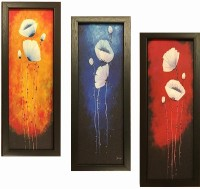 Four Angles 3x1 glitter coated picture Frames Digital Reprint Painting(13 inch x 5 inch)