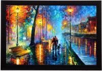 eCraftIndia You & Me Satin Matt Textured UV Art Canvas 10 inch x 14 inch Painting
