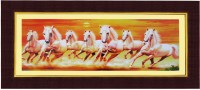Janki 7 Running Horse Wall Picture Digital Reprint Painting(8.0708661417 inch x 17.716535432999997 inch)