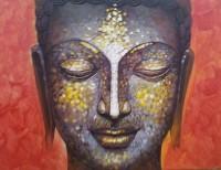 Mansha Enterprises Meditation Acrylic Painting(14 inch x 16 inch)