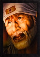 eCraftIndia Sai Baba Satin Matt Textured UV Art Canvas 14 inch x 11 inch Painting
