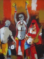 Mansha Enterprises Ecstasy Oil Painting(18 inch x 12 inch)