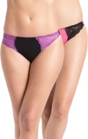 PrettySecrets Fashion Women's Thong Black, Pink Panty(Pack of 2)