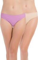 PrettySecrets Fashion Women's Thong Beige, Purple Panty(Pack of 2)
