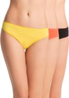 PrettySecrets Womens Hipster Black, Orange, Yellow Panty(Pack of 3)