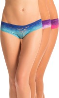 PrettySecrets Forever Ombre Womens Hipster Blue, Pink, Purple Panty(Pack of 3)