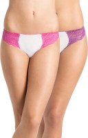 PrettySecrets Fashion Women's Thong White, Pink Panty(Pack of 2)