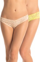 PrettySecrets Fashion Women's Hipster Beige, Yellow Panty(Pack of 2)