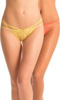 PrettySecrets Be Bold Womens Bikini Yellow, Orange Panty(Pack of 2)