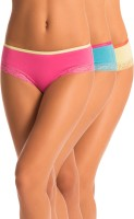 PrettySecrets Sporty Smart Womens Hipster Light Blue, Yellow, Pink Panty(Pack of 3)