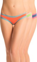 PrettySecrets Everyday Sexy Womens Hipster Blue, Green, Orange Panty(Pack of 3)