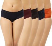 Vaishma Women's Hipster Dark Blue, Brown, Maroon, Orange, Blue Panty(Pack of 5)