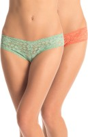 PrettySecrets Fashion Women's Hipster Green, Orange Panty(Pack of 2)