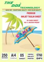 DDS Inkjet TASLIN ID CARD 5 sheet pack A/4 250 gsm Printer Paper(Set of 1, White)